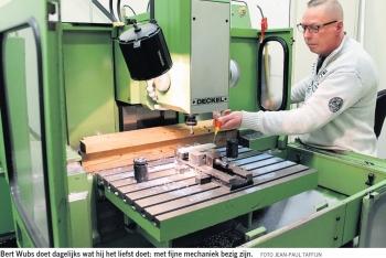 Bert Wubs in het Dagblad van het Noorden 24 April